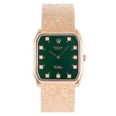 Rolex Yellow Gold Cellini Bracelet Watch Ref 4943 with Jubilee Finish Bracelet
