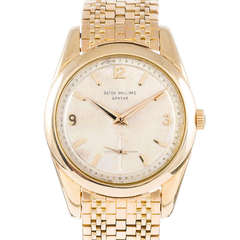 Patek Philippe Yellow Gold Wristwatch Ref 2541 circa 1950s with Bracelet