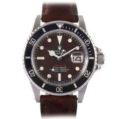 Rolex Stainless Steel Submariner Tropical Meters First Wristwatch Ref 1680