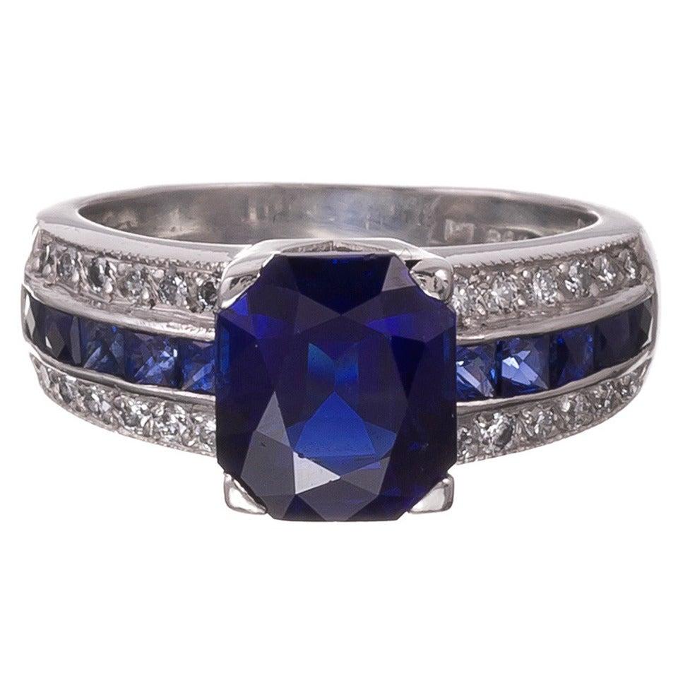 4 25 carat sapphire platinum engagement ring at