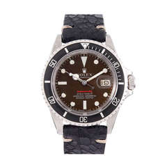 Rolex Stainless Steel Meters First Submariner Ref 1680 with Tropical Brown Dial