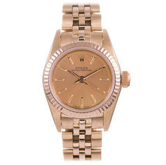 Rolex Lady's Yellow Gold Oyster Perpetual Wristwatch
