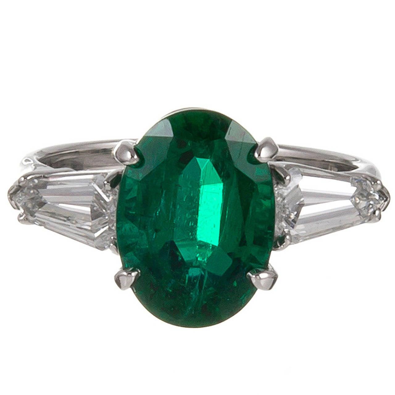 3 49 carat oval emerald kite shoulders