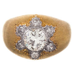 Buccellati Diamond Sunburst Ring with Original Box