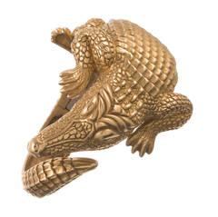 Kieselstein-Cord Alligator Cuff Bracelet