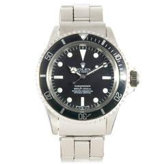 Rolex Stainless Steel Submariner Wristwatch circa 1980