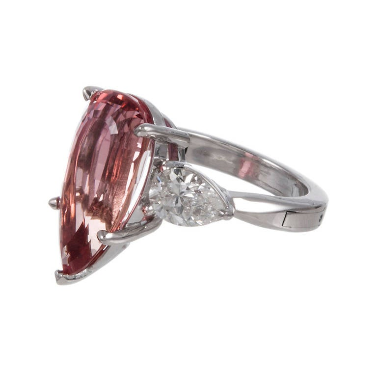 6 51 Carat Imperial Topaz Diamond Ring at 1stdibs