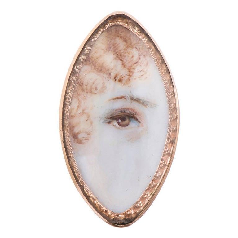Lozenge-Shaped Victorian Lover's Eye 1