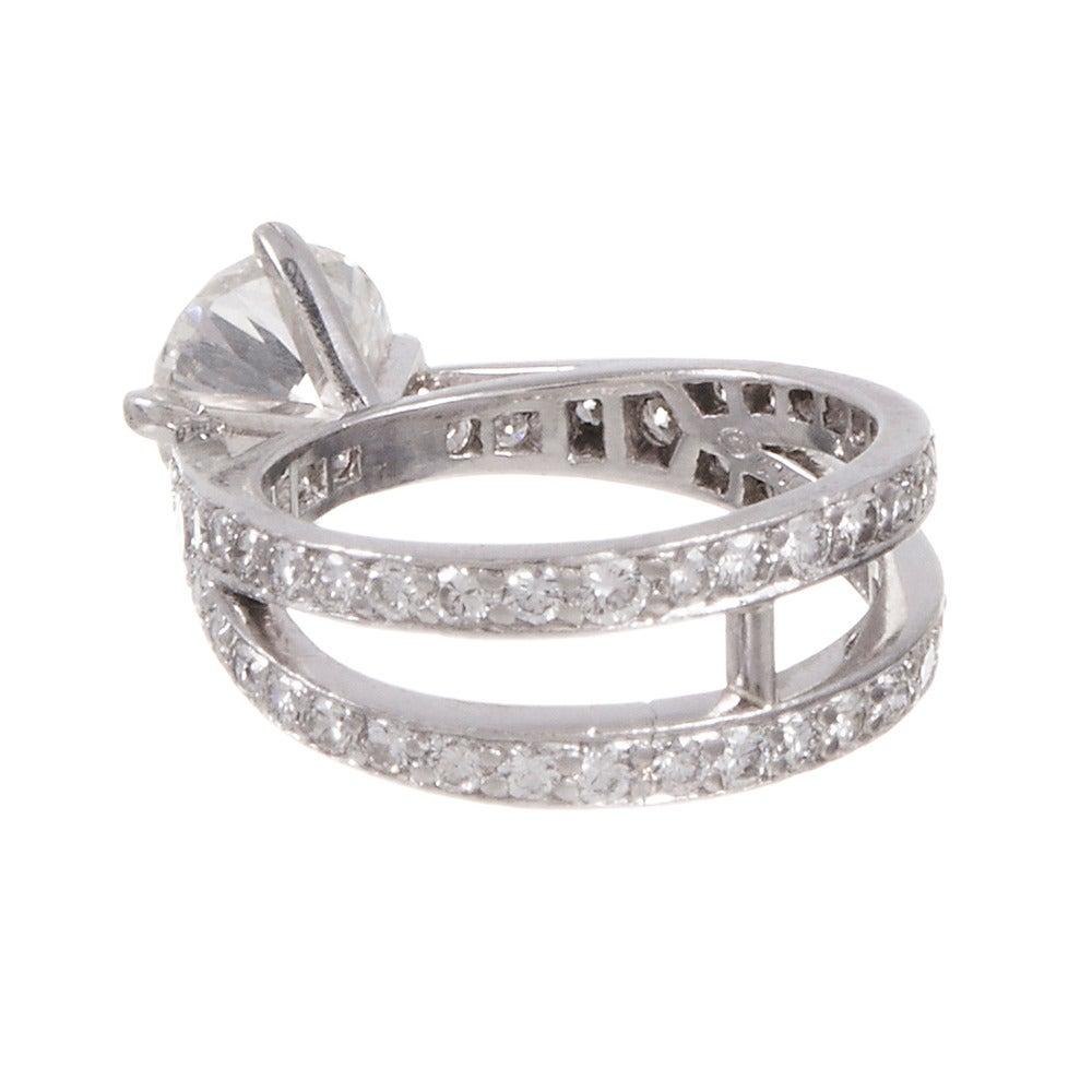 Tiffany And Co. 1.79 Carat Diamond Platinum Engagement