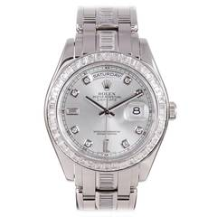 Rolex Platinum and Diamond Pearlmaster Wristwatch Circa 2011