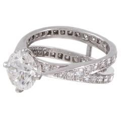 Tiffany & Co. 1.79 Carat Diamond Platinum Engagement Ring