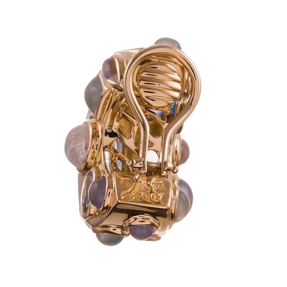 seaman schepps multi gemstone fifties earrings at 1stdibs