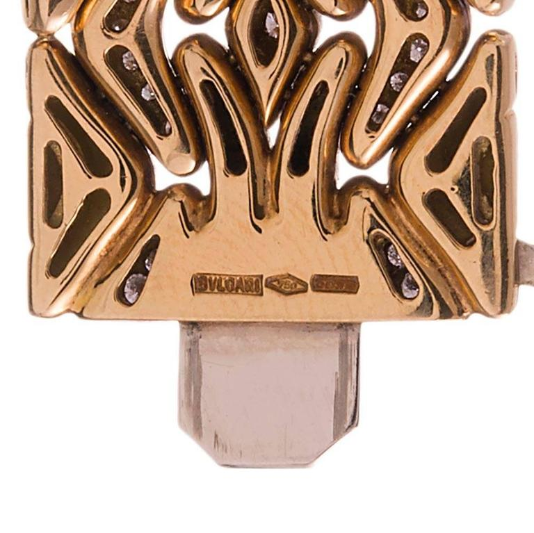 Bulgari Diamond Gold Necklace, Earrings and Bracelet Suite  3