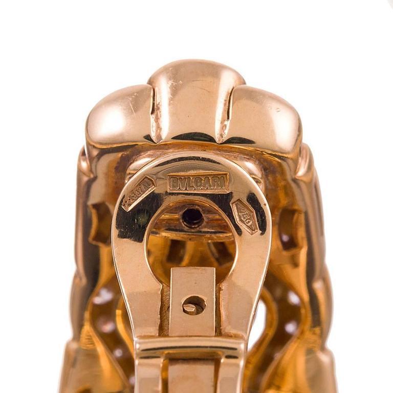 Bulgari Diamond Gold Necklace, Earrings and Bracelet Suite  6