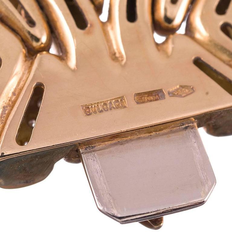 Bulgari Diamond Gold Necklace, Earrings and Bracelet Suite  For Sale 5