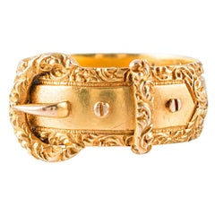 Decorated Victorian Buckle Ring