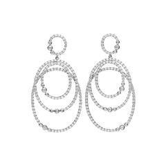 Classic Diamond Gold Drop Earrings