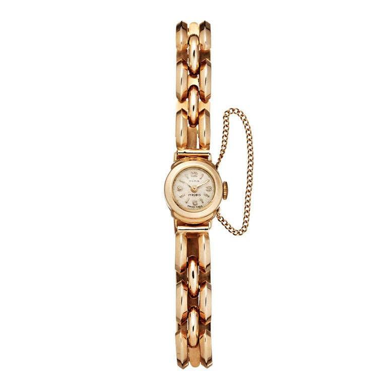 Olma Lady's Rose Gold Bracelet Watch