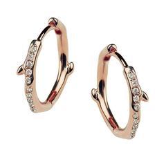 Shaun Leane Rose Gold Vermeil Diamond Hoop Earrings