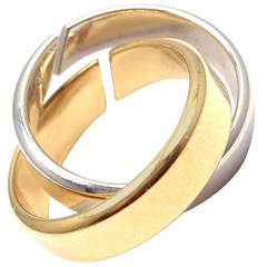 Hermes Double Band Gold Ring