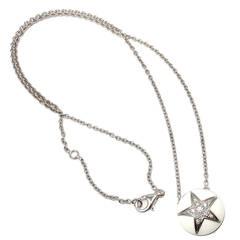 Chanel Comete Star White Agate Diamond Gold Necklace