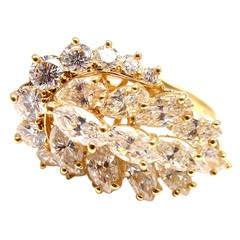 Piaget Diamond Gold Cocktail Ring