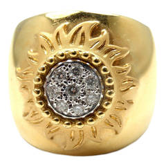 Carrera Y Carrera Sol Y Sombra Sun Diamond Gold Ring