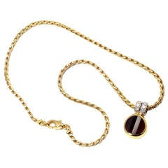 Pomellato Garnet Diamond Gold Pendant Necklace