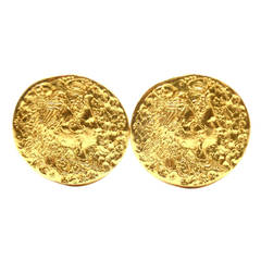Salvador Dali D'or for Piaget Gold Cufflinks