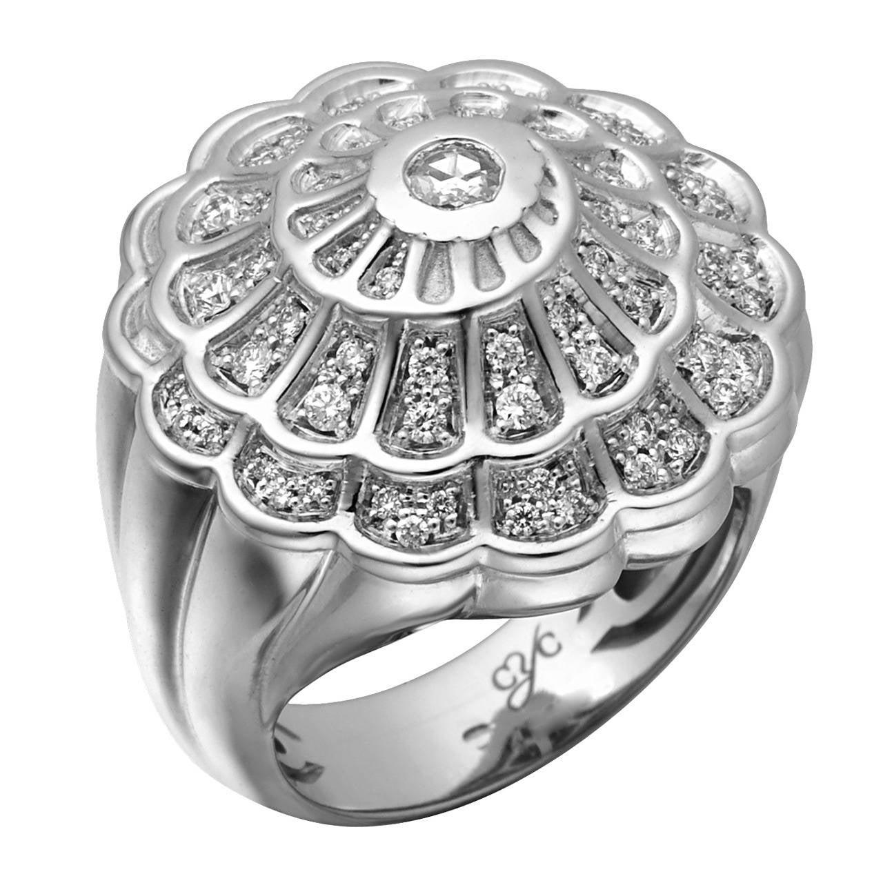 Carrera Y Carrera Afrodita Diamond White Gold Ring