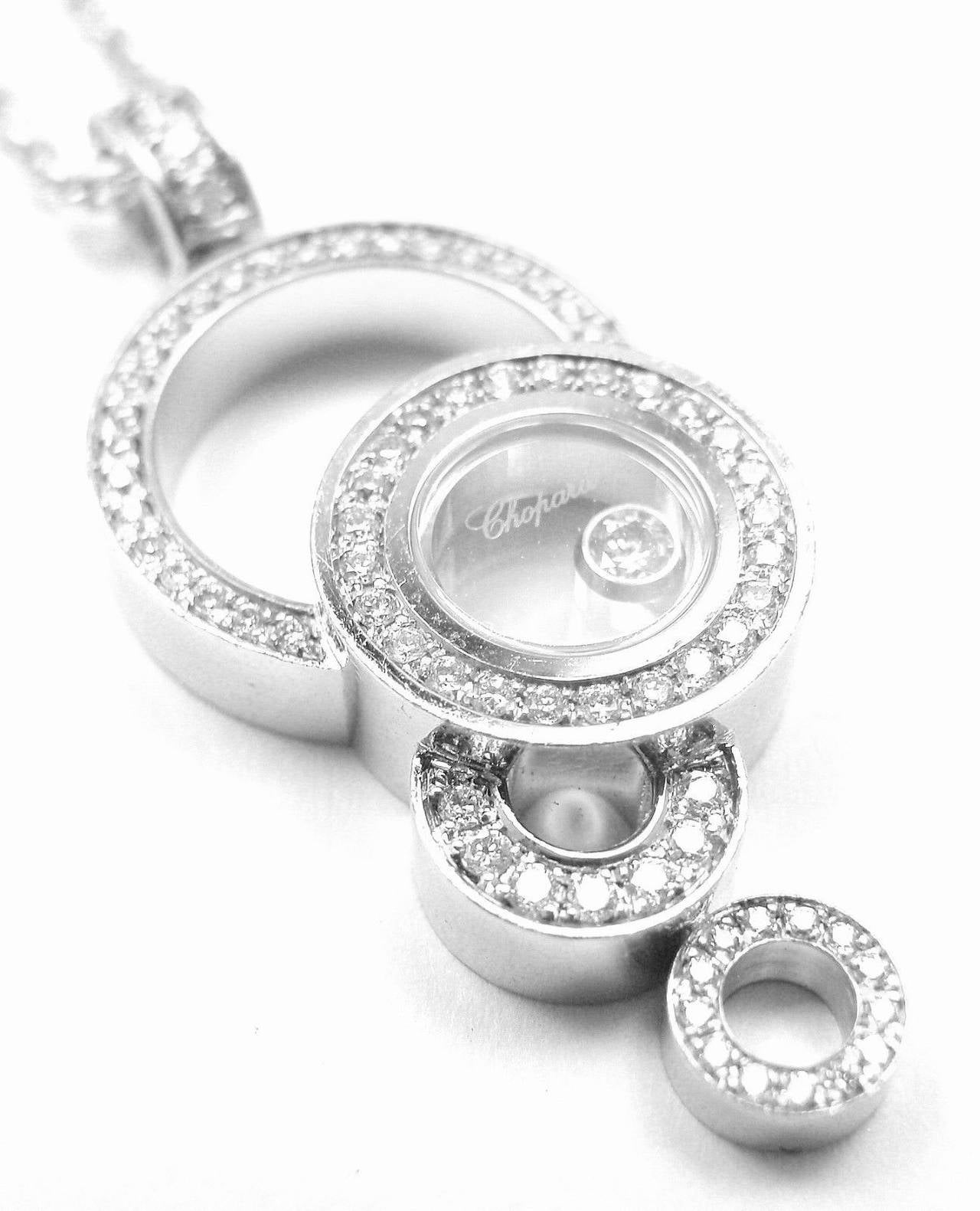 Chopard happy bubbles diamond white gold pendant necklace at 1stdibs 18k white gold diamond aloadofball Image collections