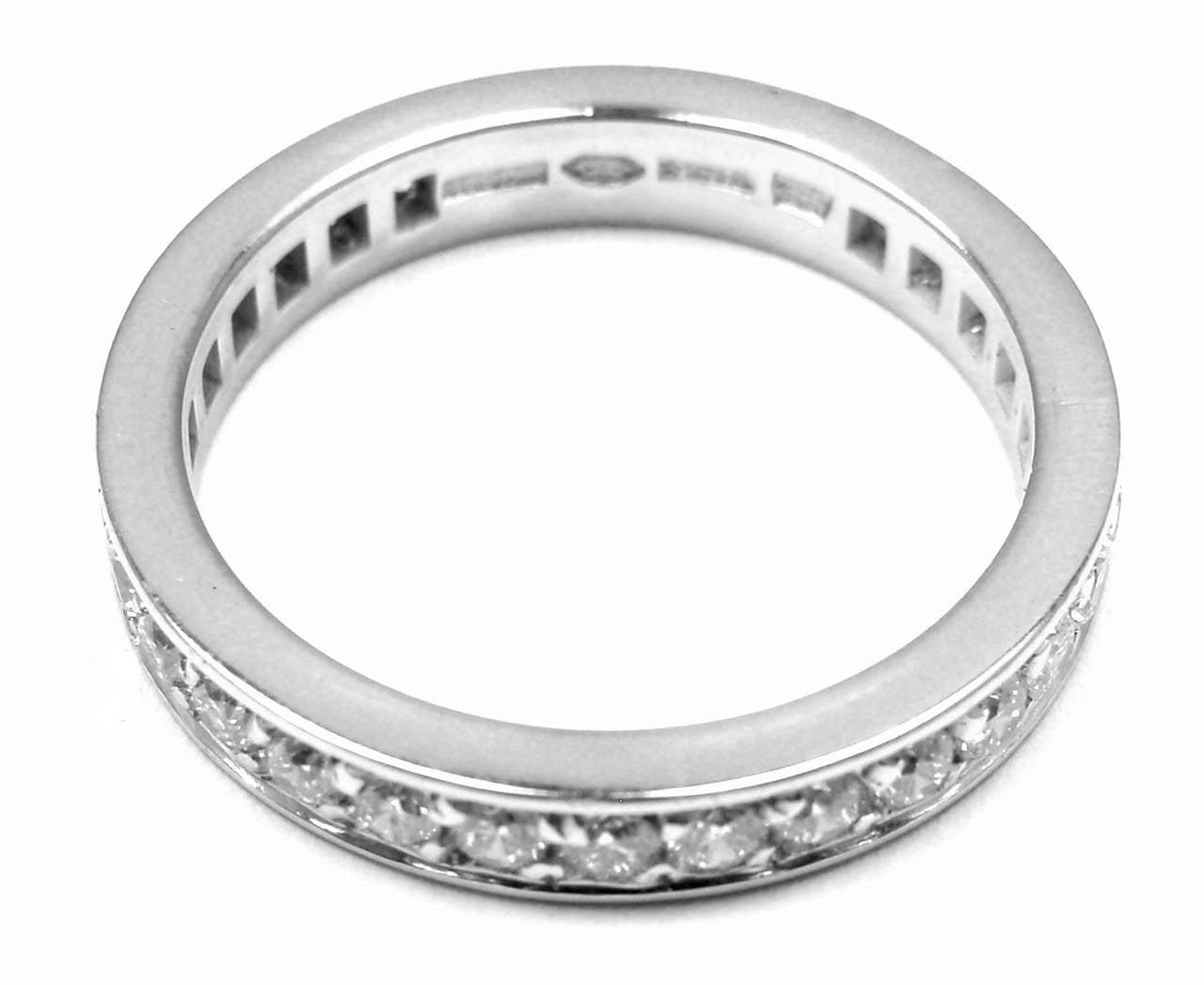 bulgari platinum eternity wedding band ring at 1stdibs