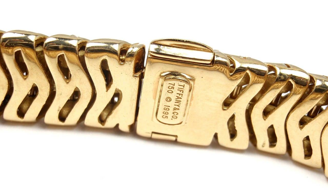 Tiffany & Co. Lady's Yellow Gold Diamond Basket Weave Quartz Wristwatch 7