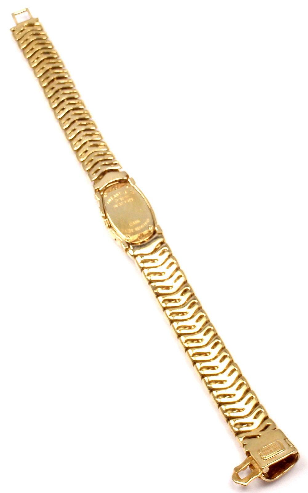 Tiffany & Co. Lady's Yellow Gold Diamond Basket Weave Quartz Wristwatch 5