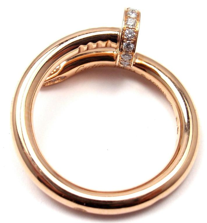 Cartier Juste un Clou Diamond Gold Nail Band Ring at 1stdibs