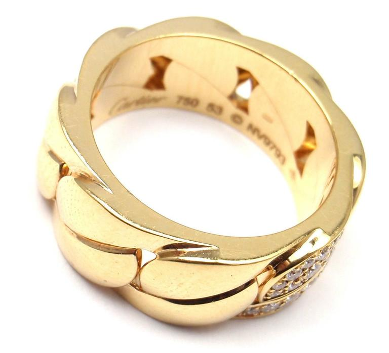Women's or Men's Cartier La Dona Diamond Gold Band Ring For Sale