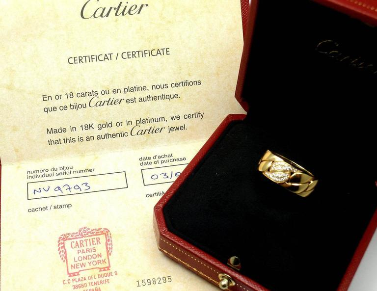 Cartier La Dona Diamond Gold Band Ring For Sale 1