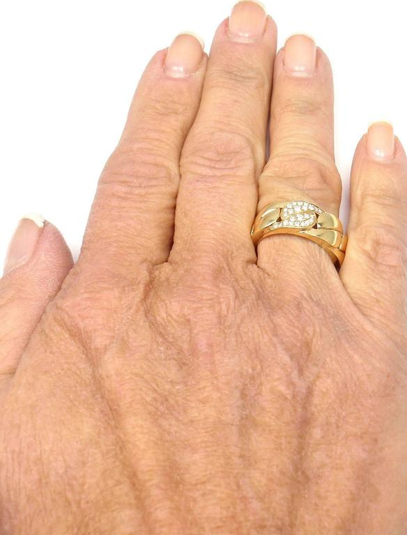 Cartier La Dona Diamond Gold Band Ring For Sale 4