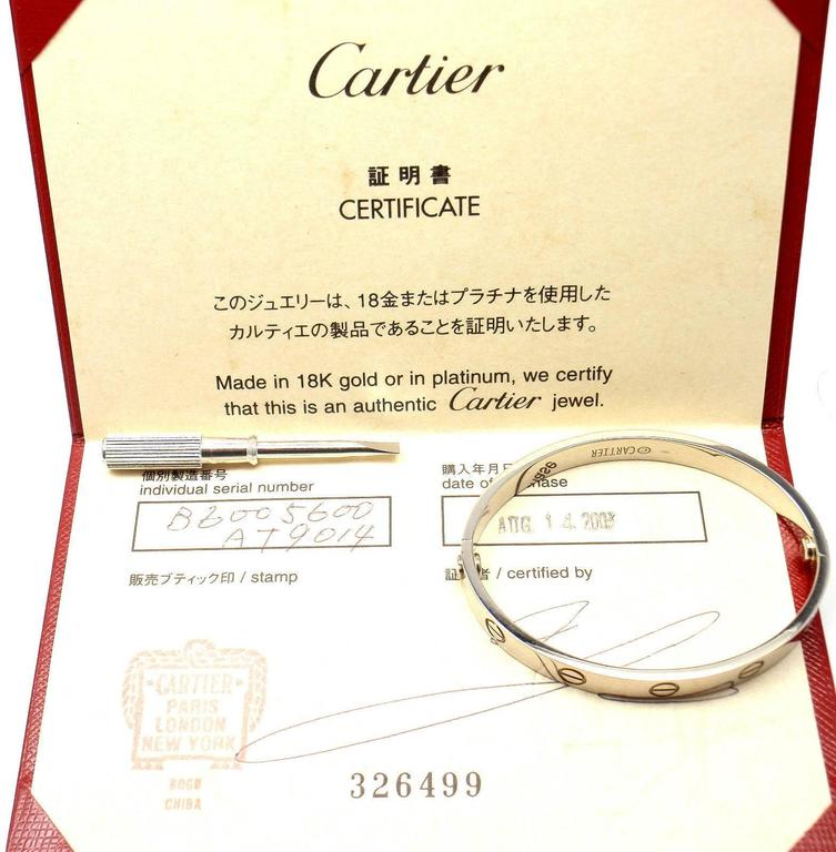 Cartier Love Gold Bangle Bracelet  For Sale 1