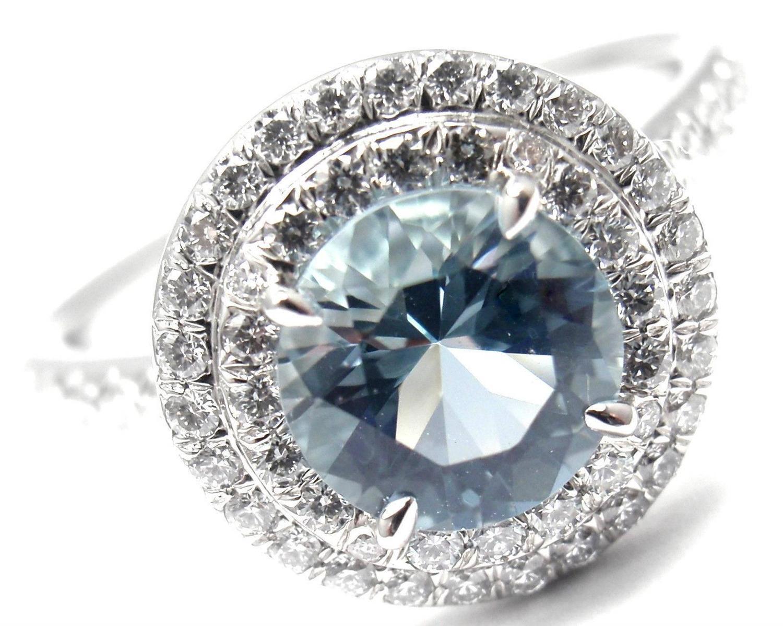 Tiffany And Co Soleste 1 25 Carat Aquamarine Diamond