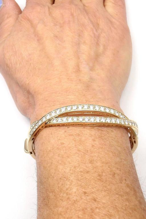 Van Cleef & Arpels Diamond Gold Bangle Bracelet For Sale 5