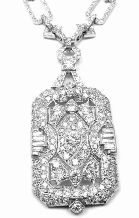 Vintage French Are Deco Platinum 15ct Diamond 22