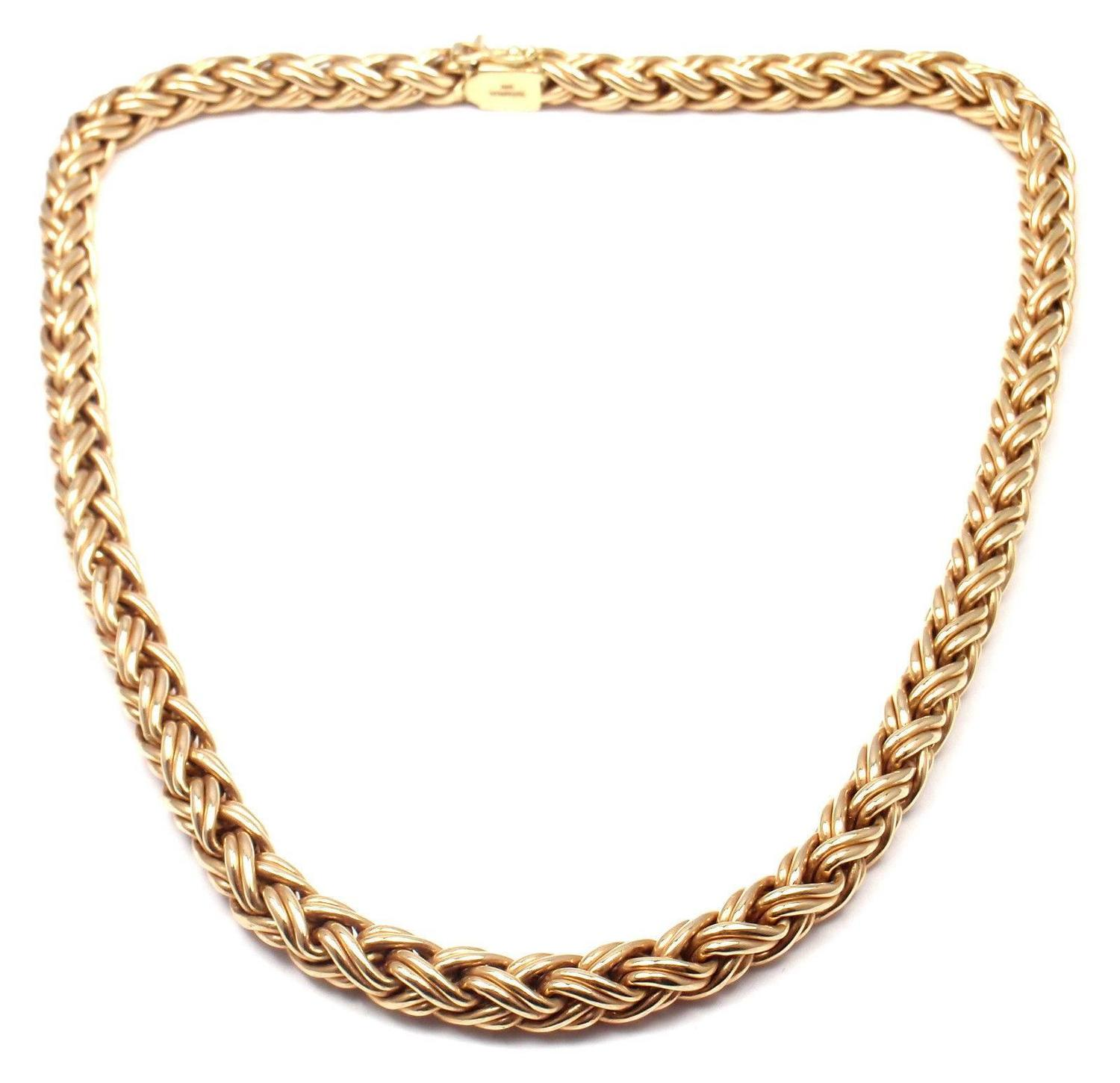 Basket Weaving Jewelry : Tiffany and co basket weave gold necklace for sale at stdibs