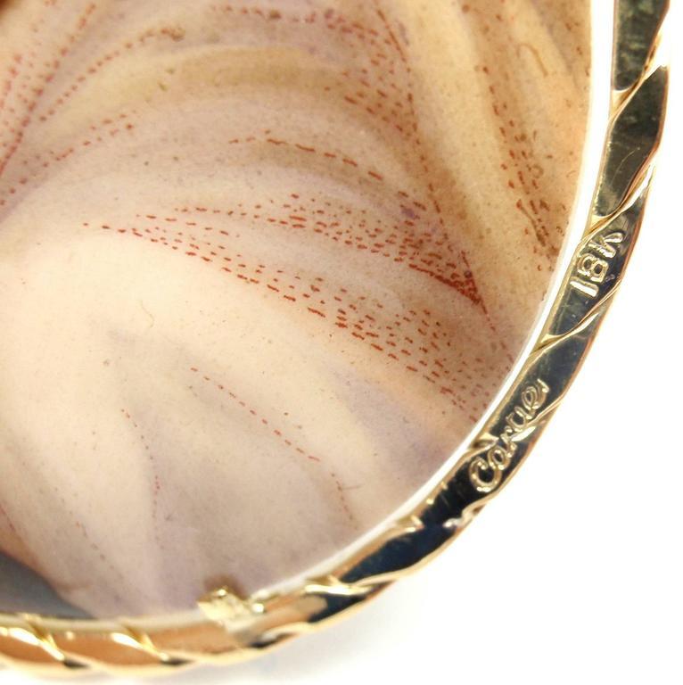 Cartier Large Ceramic Painted Gold Pendant 3