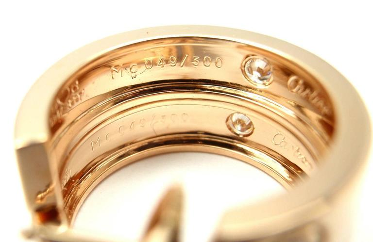 Cartier Love Diamond Gold 150th Anniversary Limited Edition Hoop Earrings In New Condition In Holland, PA