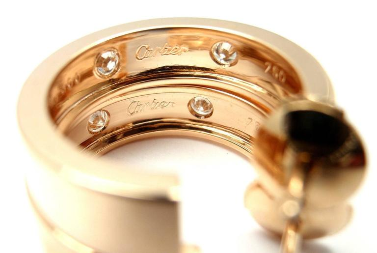 Cartier Love Diamond Gold 150th Anniversary Limited Edition Hoop Earrings 5