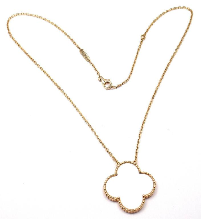 Van Cleef And Arpels Mother Of Pearl Necklace: Van Cleef And Arpels Magic Alhambra Mother Of Pearl Gold