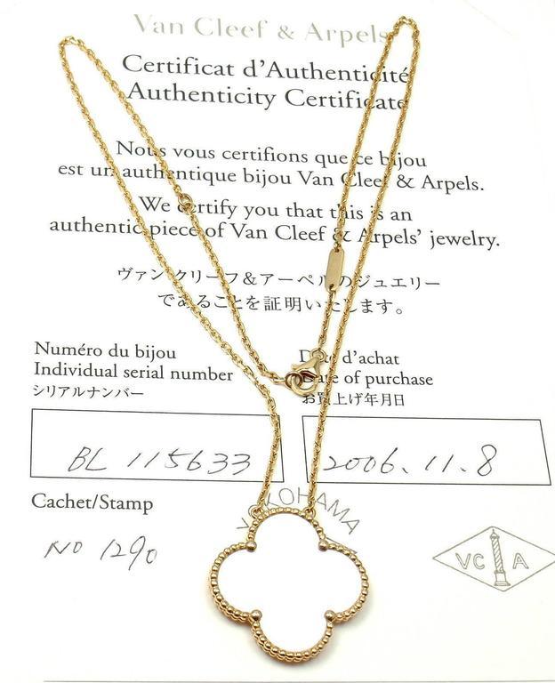 Serial Earrings: Van Cleef And Arpels Magic Alhambra Mother Of Pearl Gold