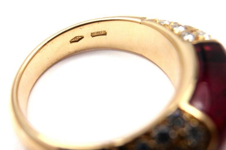 Bulgari Pink Tourmaline Diamond Gold Ring 4