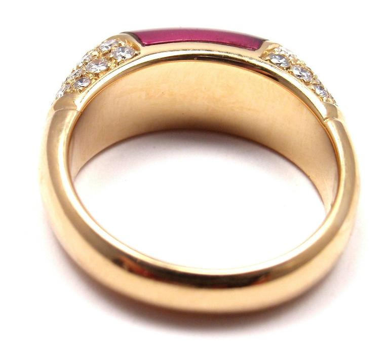Bulgari Pink Tourmaline Diamond Gold Ring 2